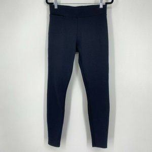 American Giant Ponte Knit Slim Ankle Pull On Stretch Pants Black Women's Size 2
